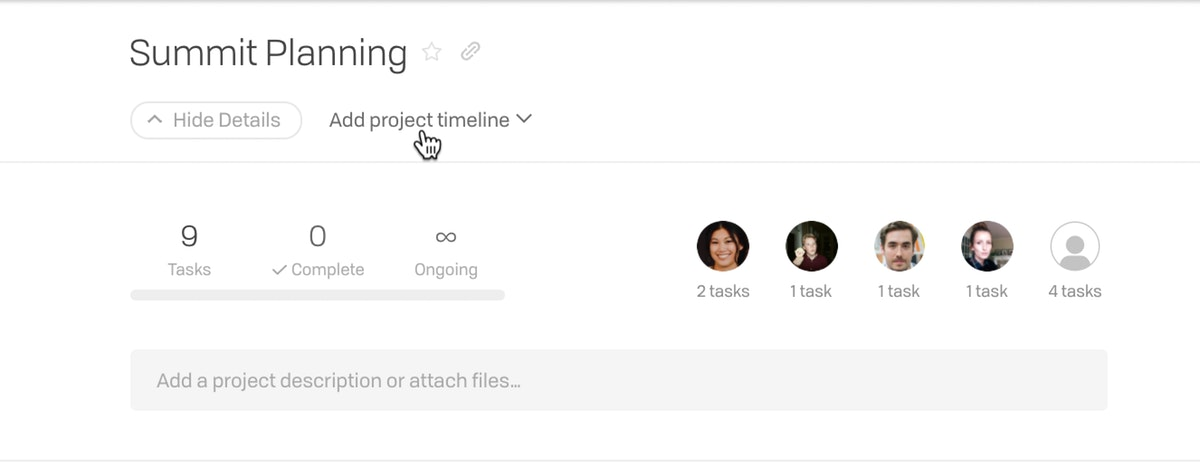 Project Timelines New 1
