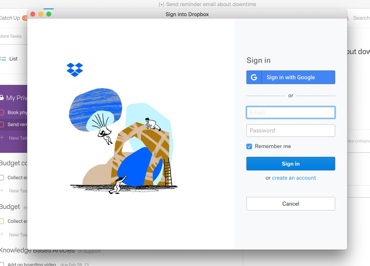 Connecting Dropbox New 2