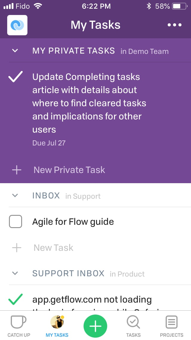 Creating Tasks Ios 1